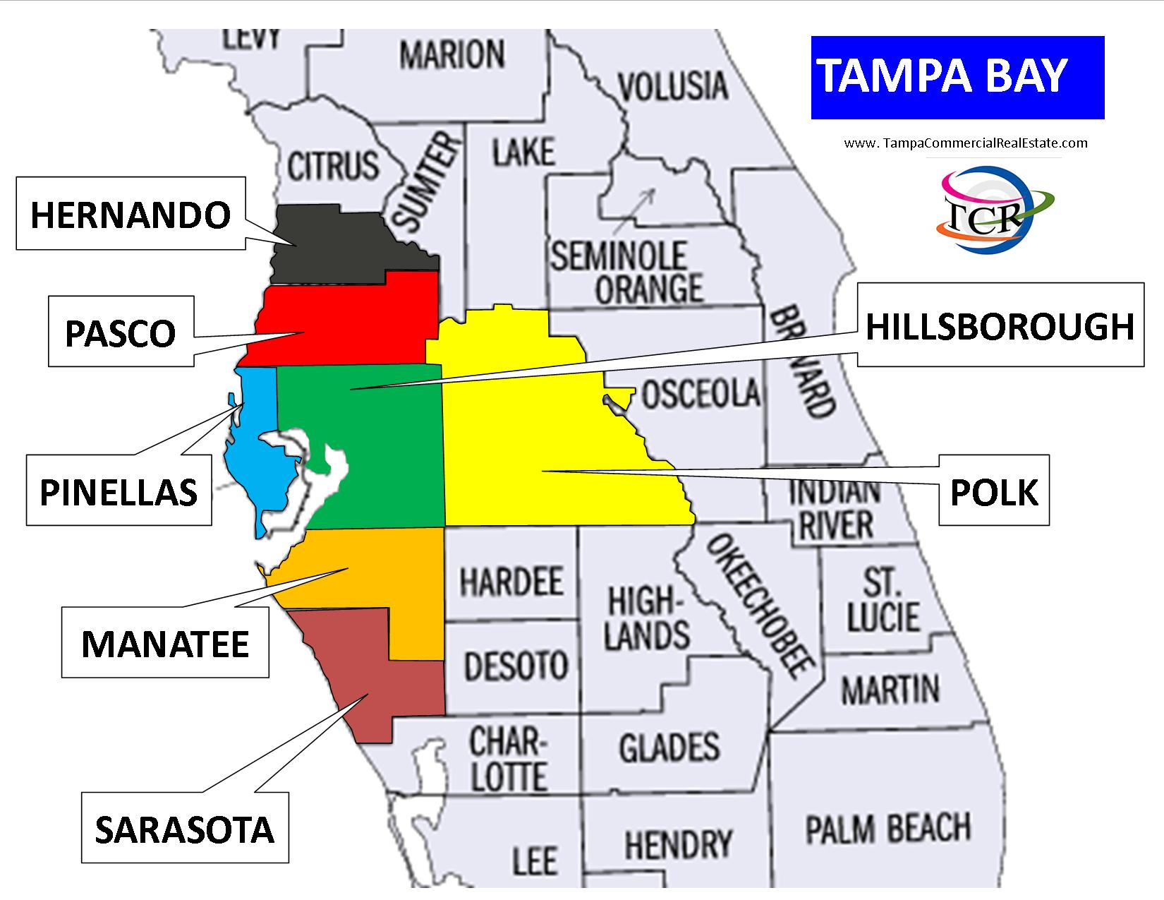 counties in tampa florida map